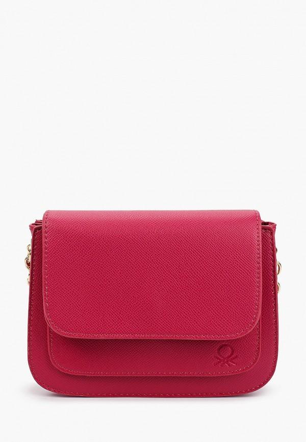 женская сумка через плечо united colors of benetton, розовая
