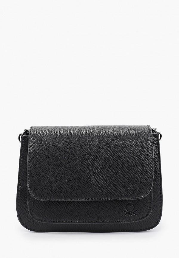 женская сумка через плечо united colors of benetton, черная