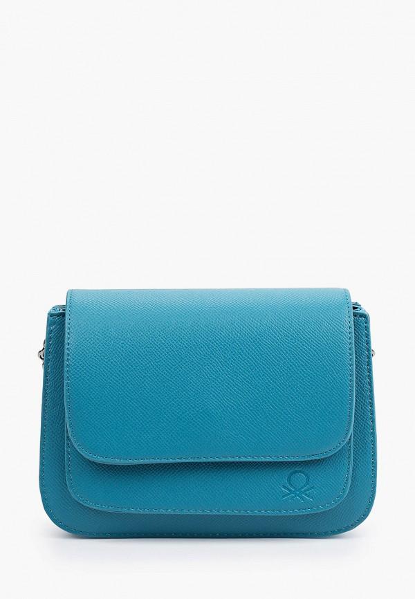 женская сумка через плечо united colors of benetton, голубая