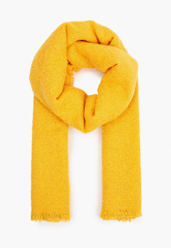 женский палантин united colors of benetton, желтый