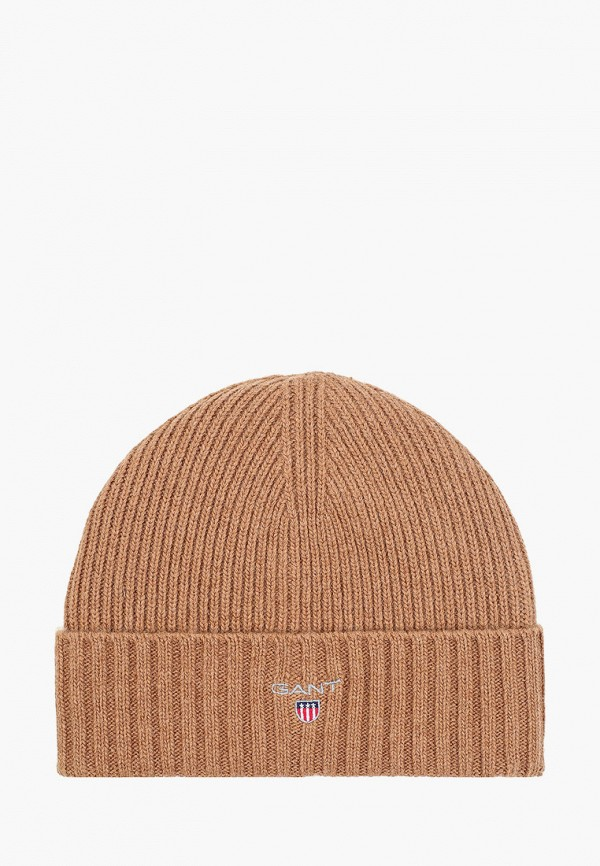 женская шапка gant, коричневая