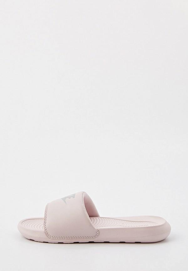 женские сланцы nike, розовые