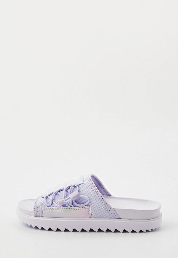 женские сланцы nike, фиолетовые