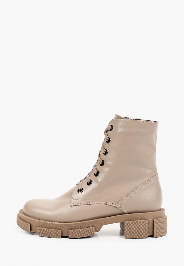женские высокие ботинки winzor, бежевые