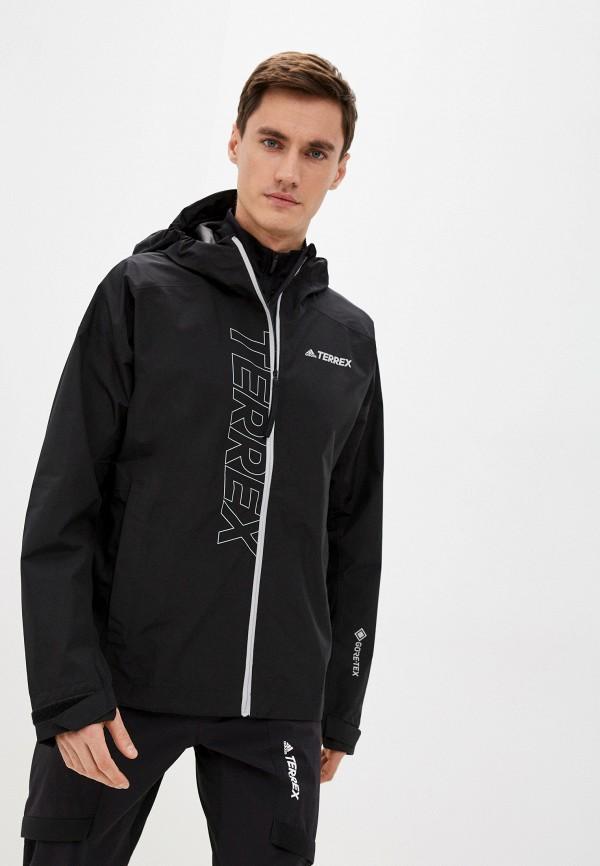 мужская ветровка adidas, черная