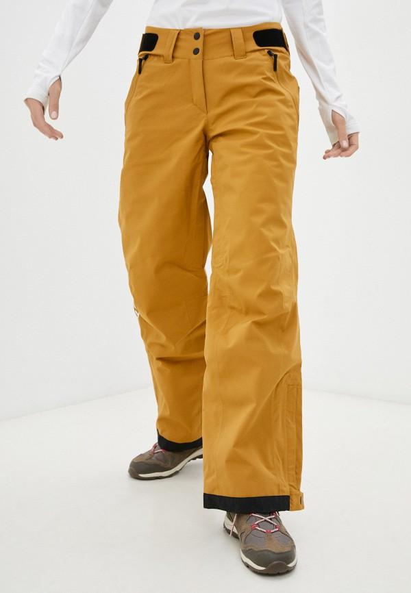 женские горнолыжные брюки adidas, коричневые
