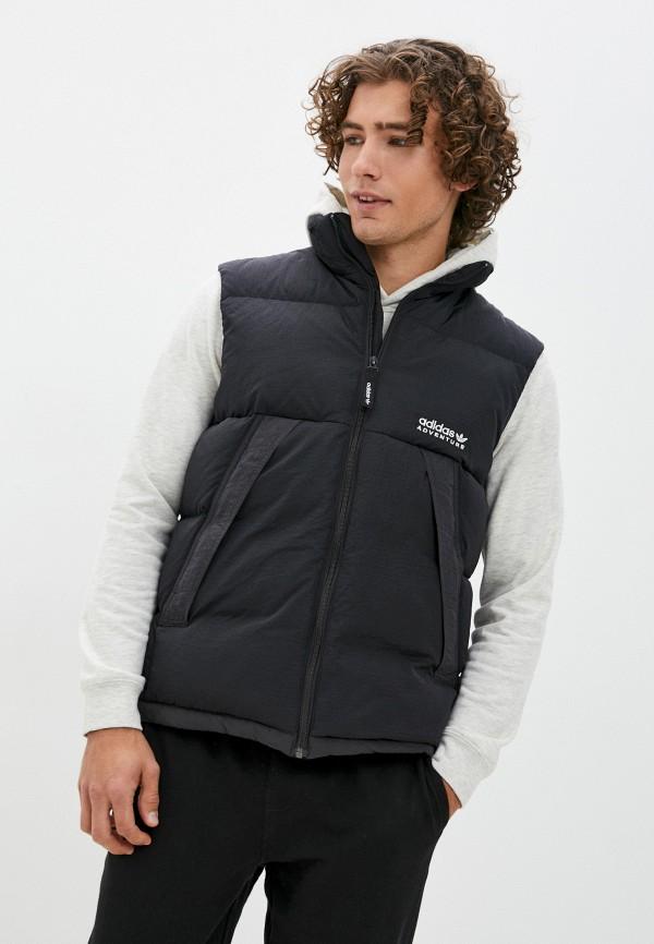 мужской утепленные жилет adidas, черный
