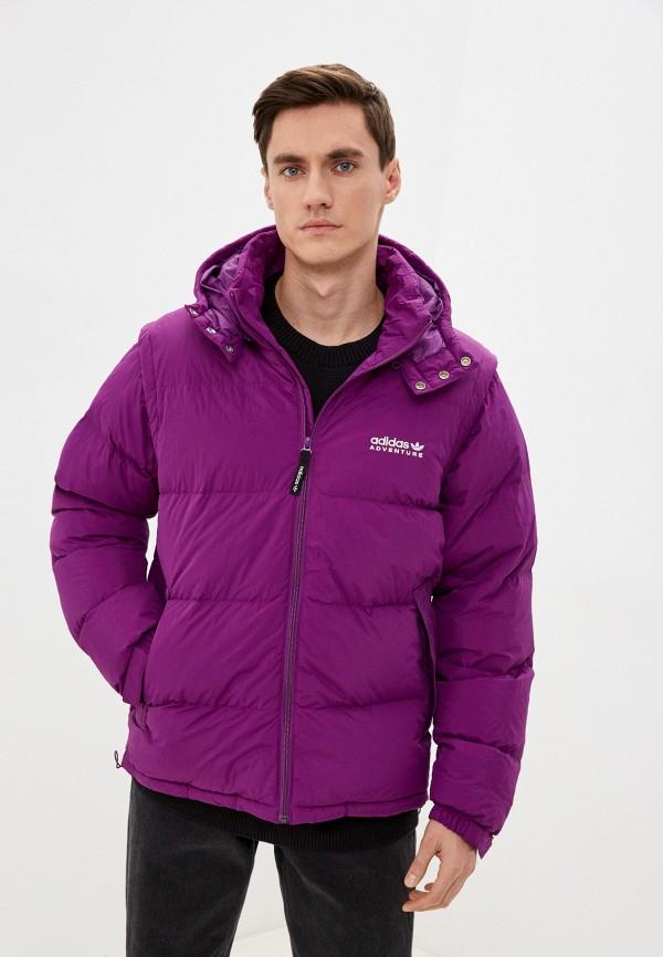 мужской пуховик adidas, фиолетовый