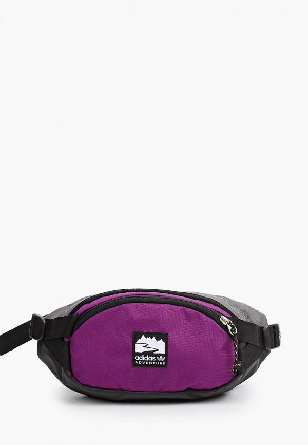 женская поясные сумка adidas, фиолетовая