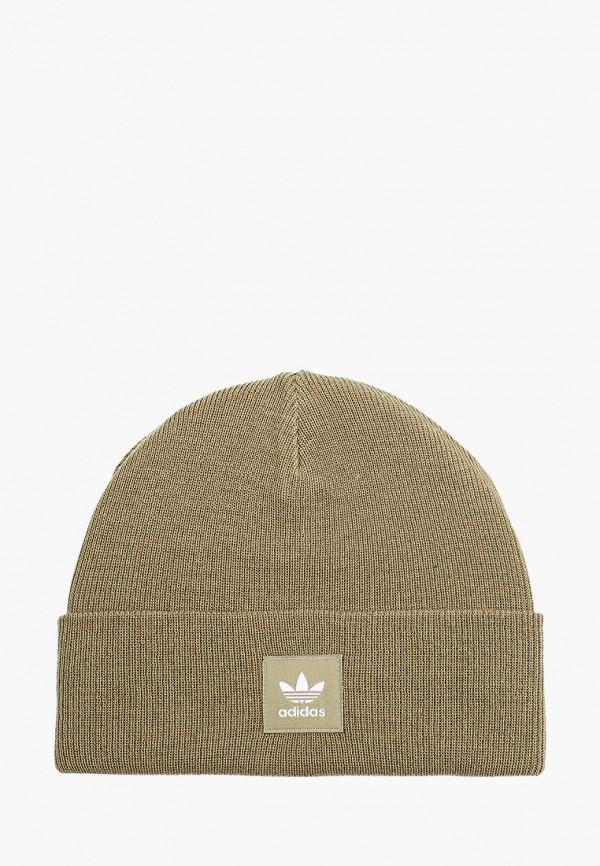 женская шапка adidas, хаки
