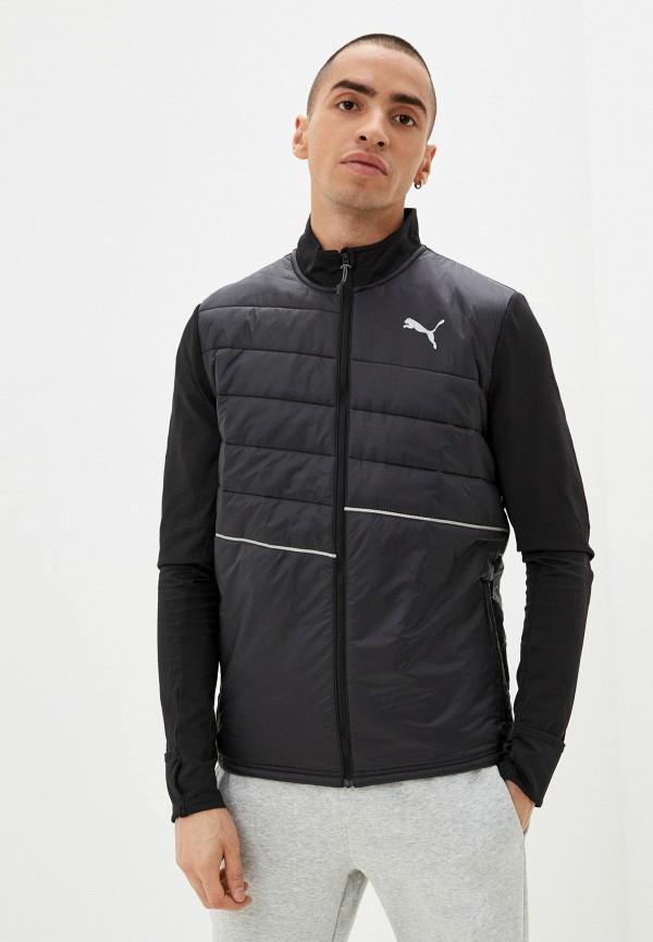 мужская спортивные куртка puma, черная