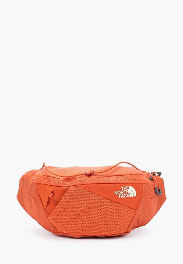 женская поясные сумка the north face, оранжевая