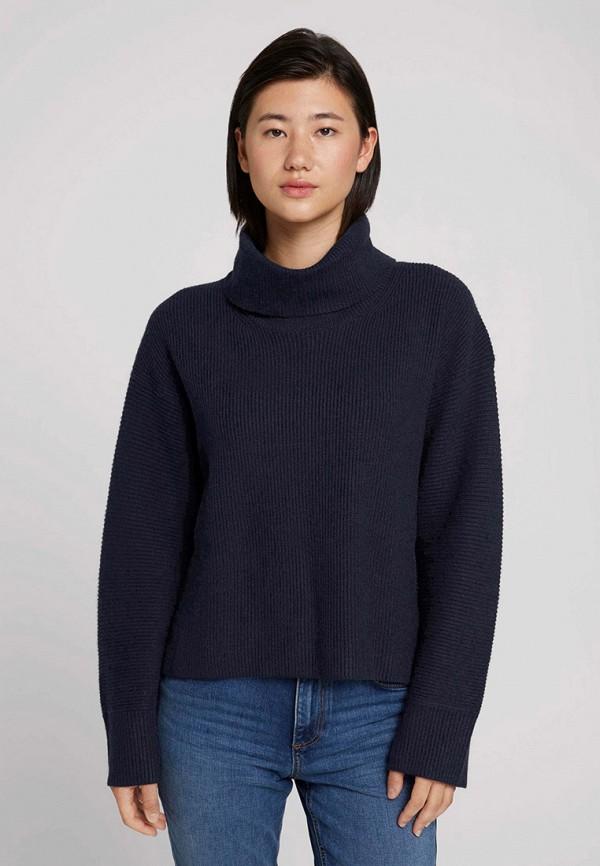женский свитер tom tailor, синий