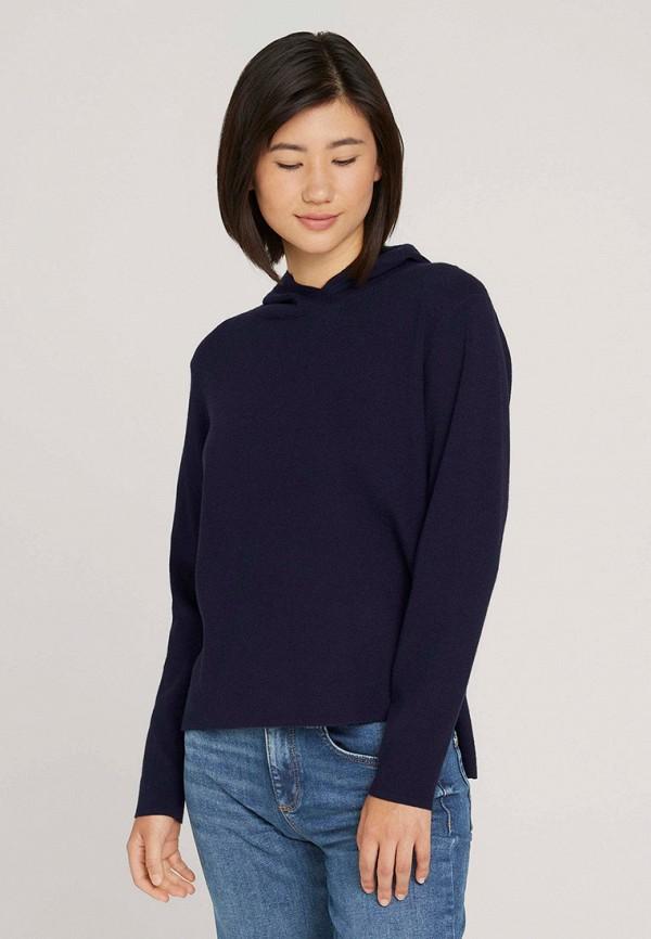 женские худи tom tailor, синие