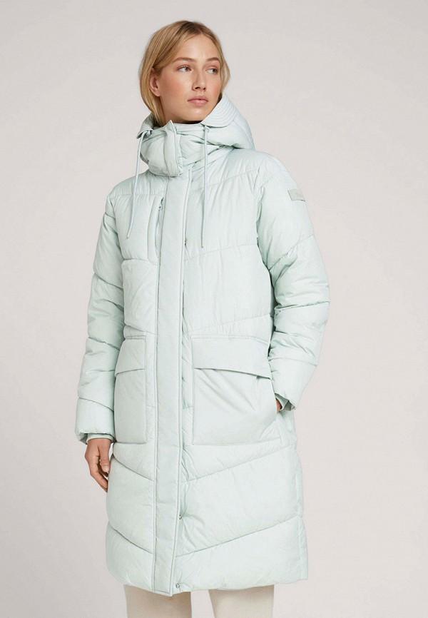 женская утепленные куртка tom tailor, голубая