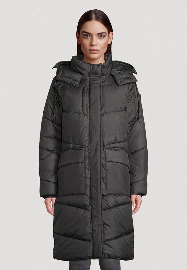 женская утепленные куртка tom tailor, черная