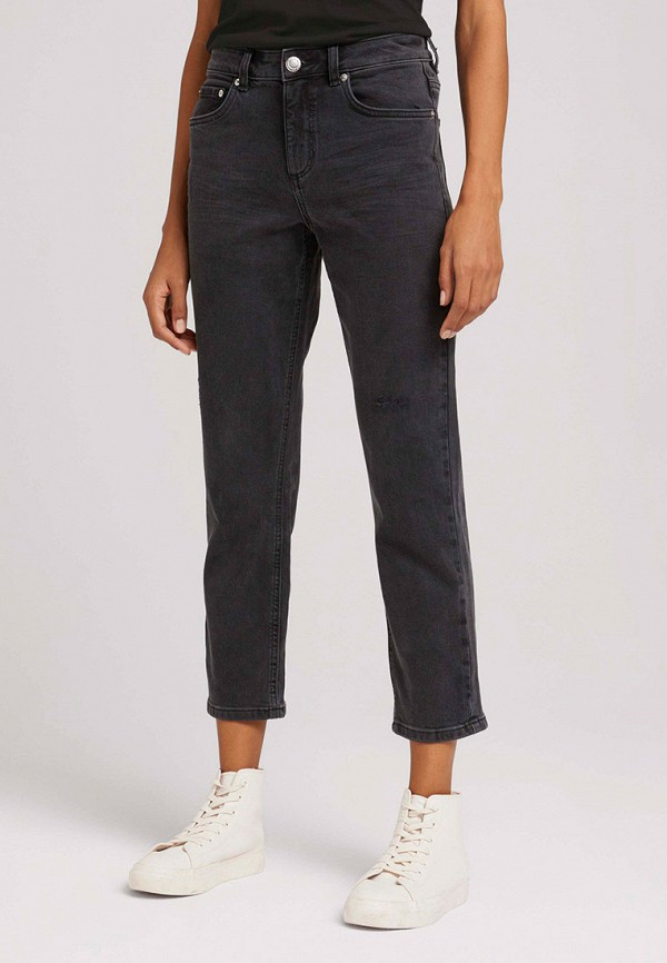 женские джинсы-мом tom tailor, черные