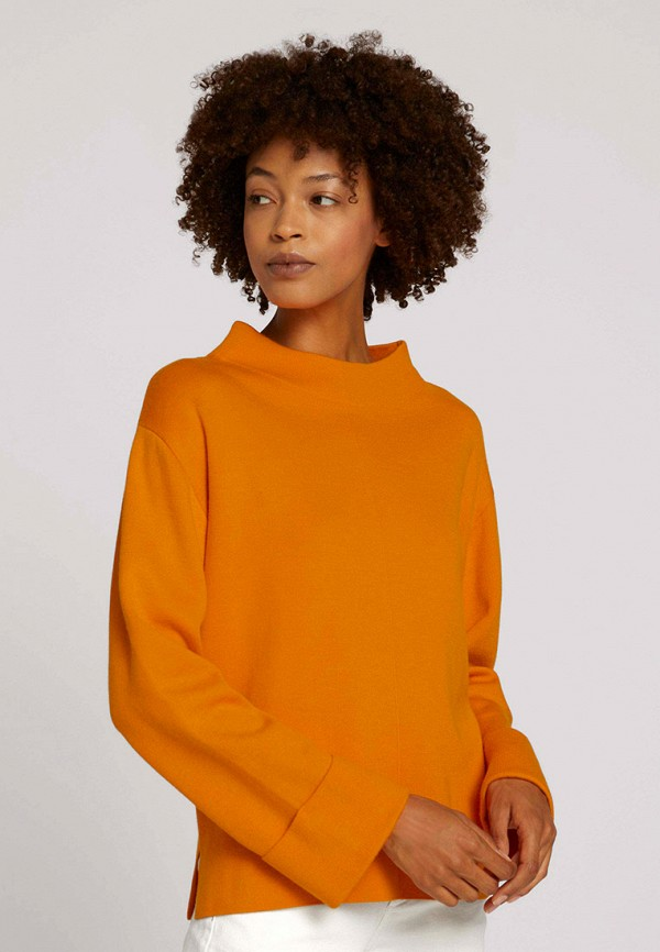 женский джемпер tom tailor, оранжевый