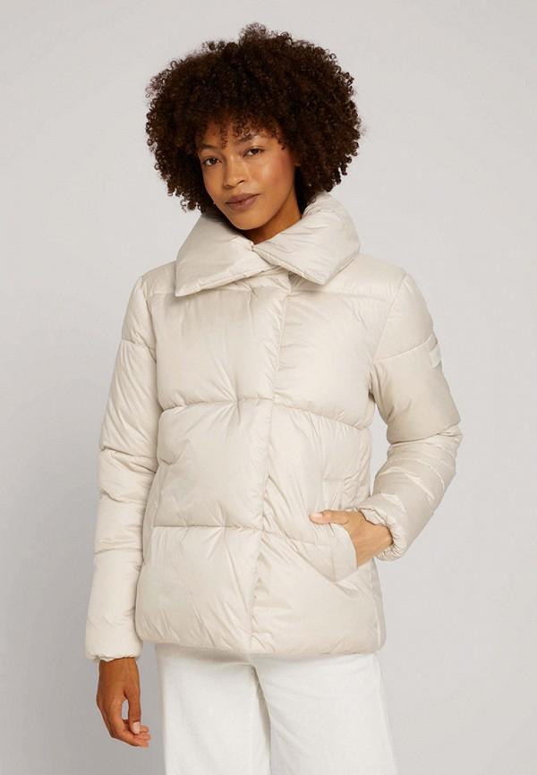 женская утепленные куртка tom tailor, белая