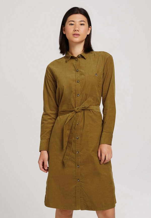 женское платье-рубашки tom tailor, хаки