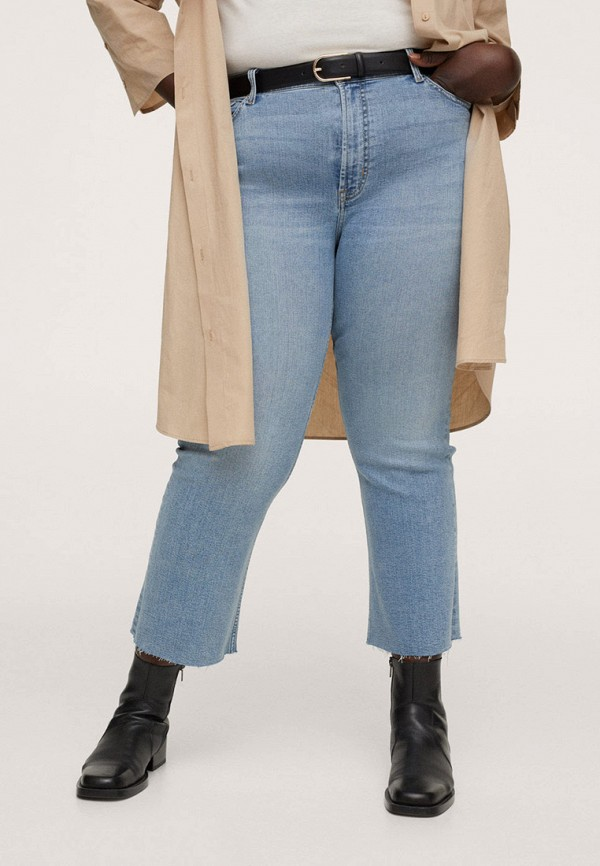 женские джинсы скинни violeta by mango, голубые