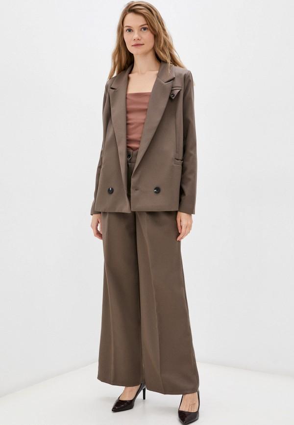 женский костюм hey look, коричневый