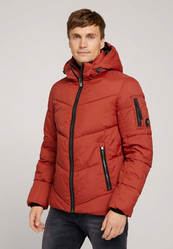 мужская утепленные куртка tom tailor, оранжевая