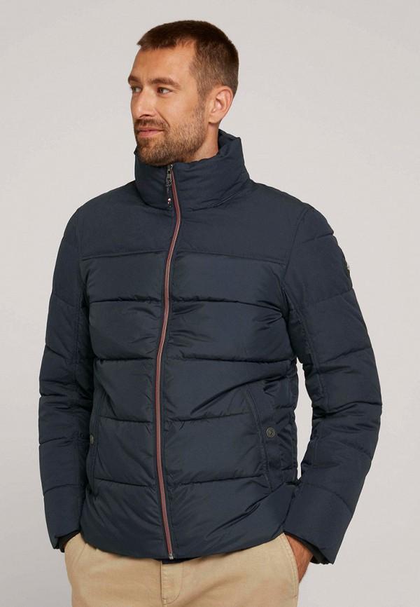 мужская утепленные куртка tom tailor, синяя