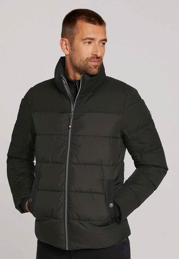 мужская утепленные куртка tom tailor, черная