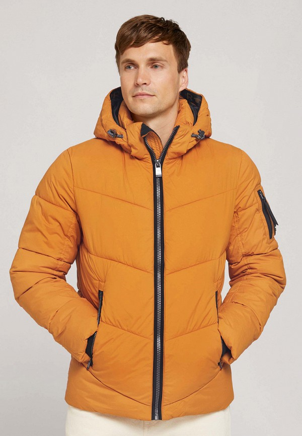 мужская утепленные куртка tom tailor, желтая