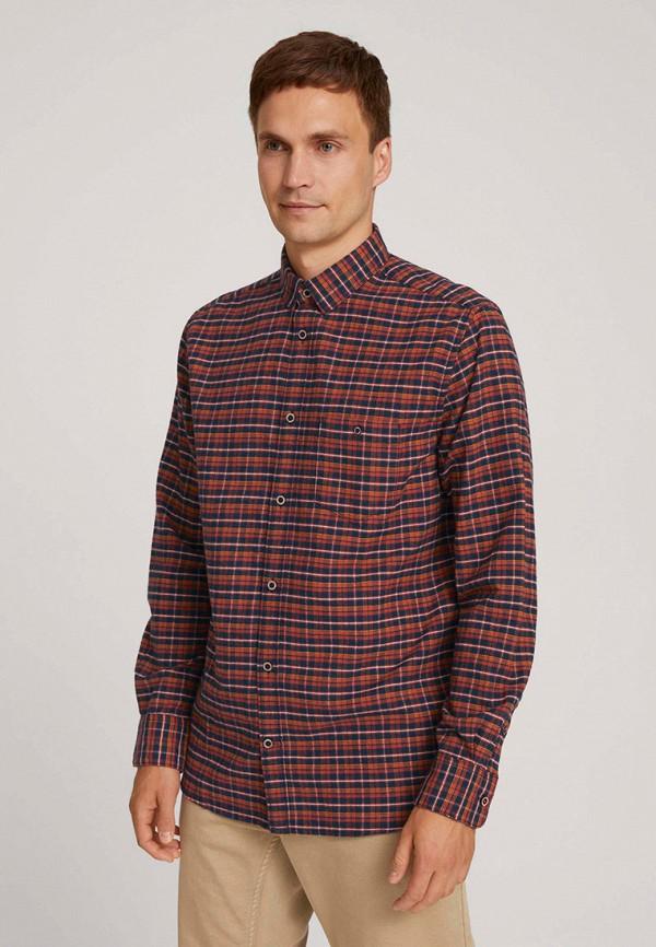 мужская рубашка с длинным рукавом tom tailor, красная