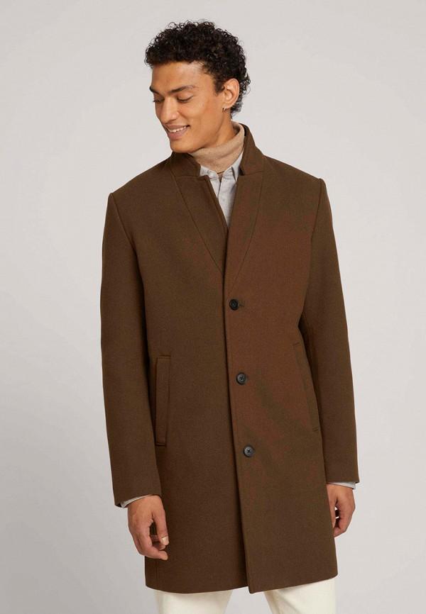 мужское пальто tom tailor, коричневое