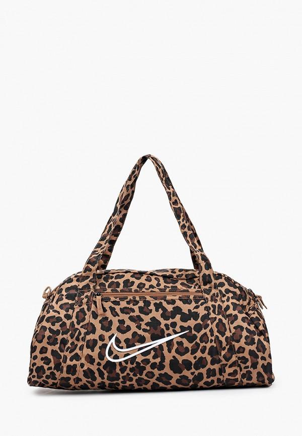 женская спортивные сумка nike, коричневая