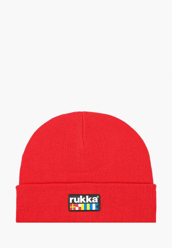 мужская шапка rukka, красная