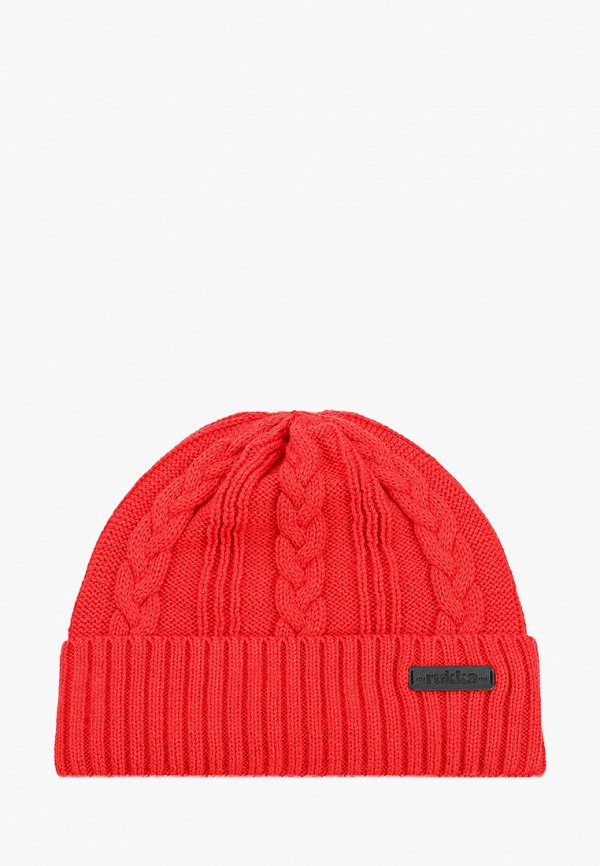 женская шапка rukka, красная