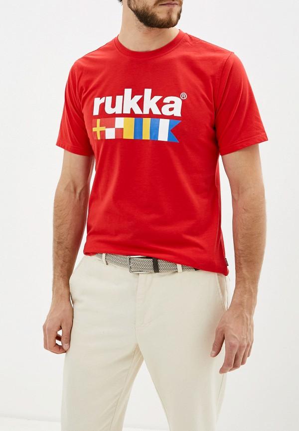 мужская спортивные футболка rukka, красная