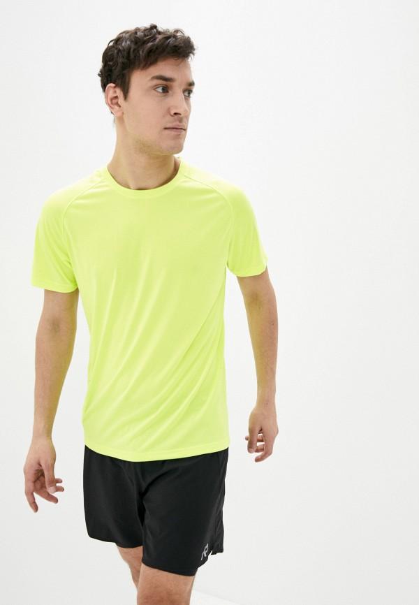 мужская спортивные футболка rukka, желтая