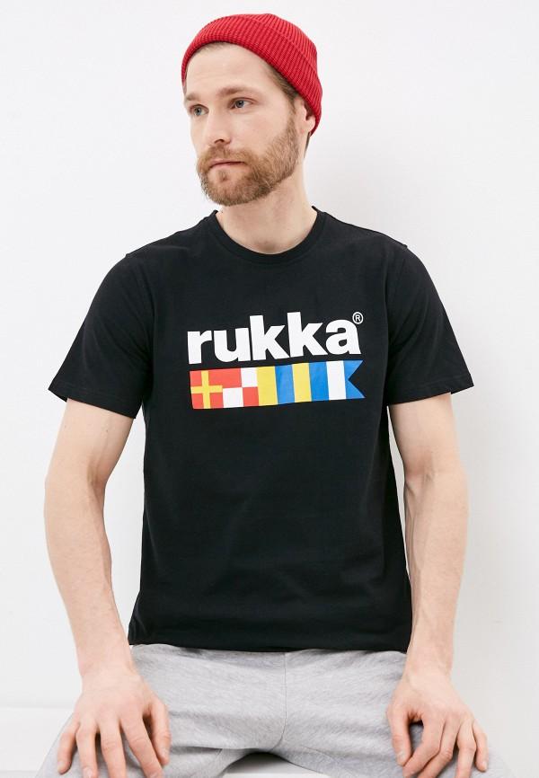 мужская спортивные футболка rukka, черная