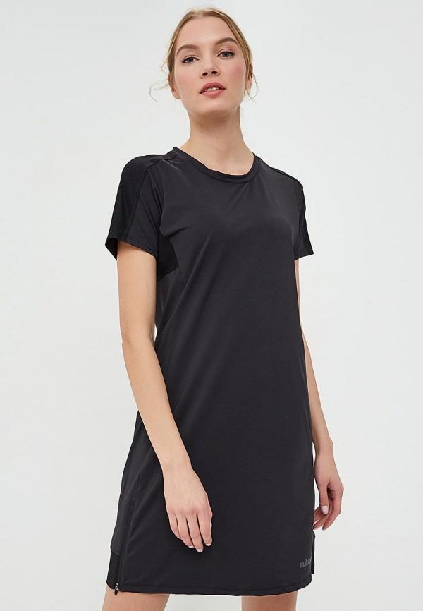 женское спортивные платье rukka, черное