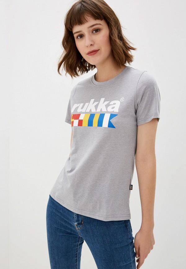 женская спортивные футболка rukka, серая