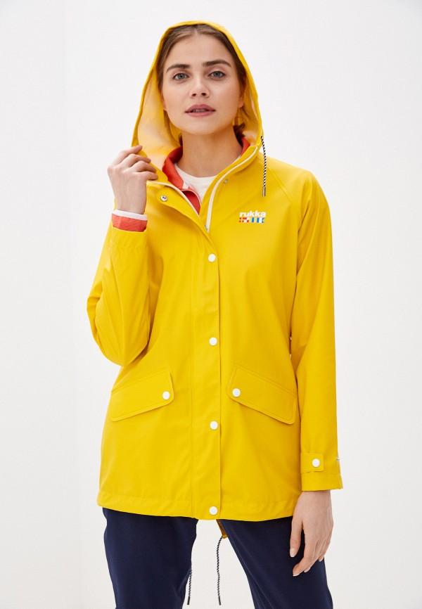 женская ветровка rukka, желтая