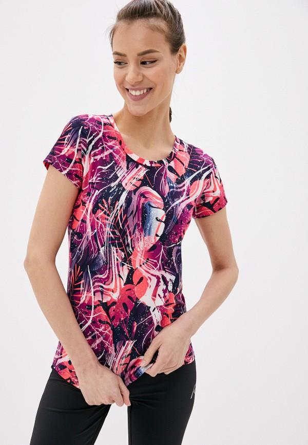 женская спортивные футболка rukka, разноцветная