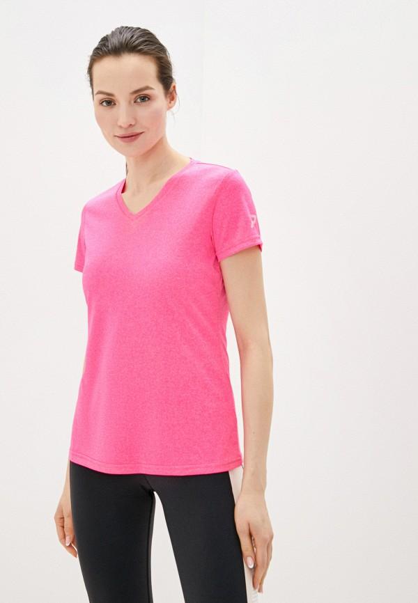 женская спортивные футболка rukka, розовая