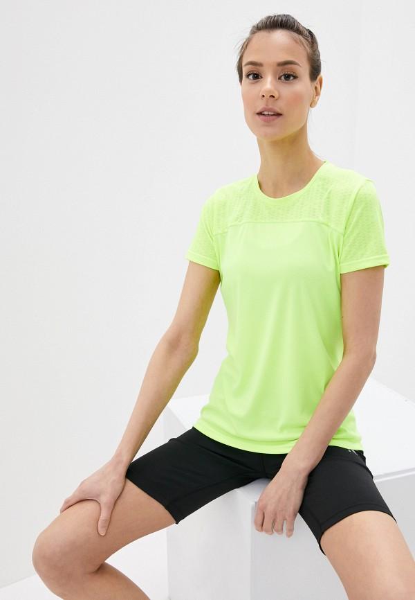 женская спортивные футболка rukka, зеленая