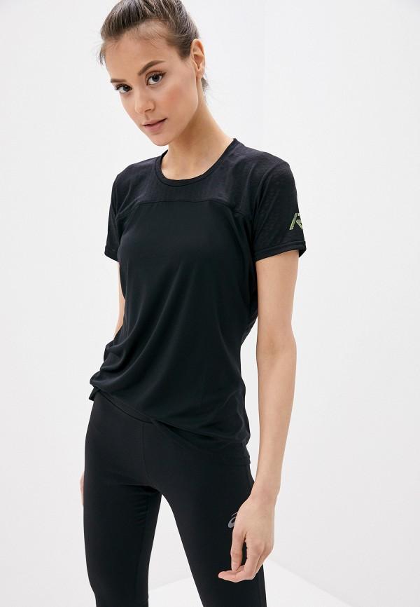 женская спортивные футболка rukka, черная