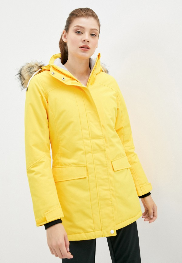 женская куртка rukka, желтая