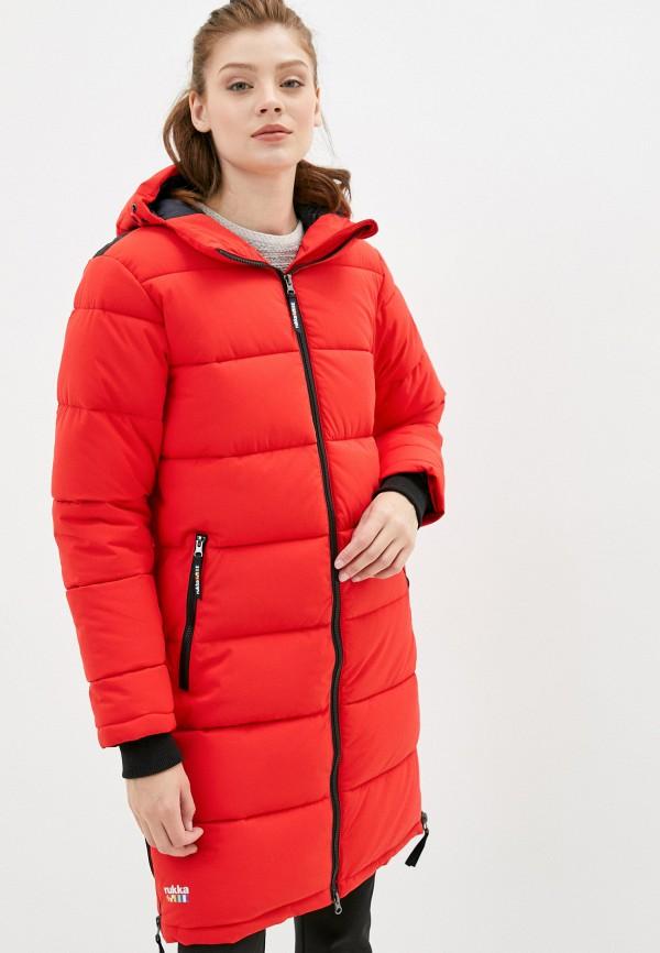 женская куртка rukka, красная