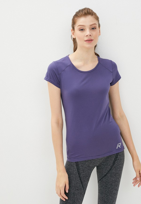 женская спортивные футболка rukka, фиолетовая