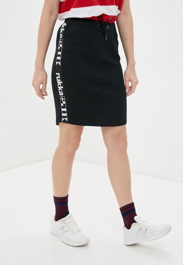 женская спортивные юбка rukka, черная