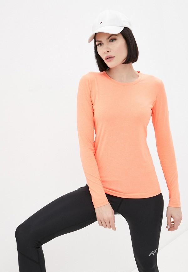 женский лонгслив rukka, оранжевый